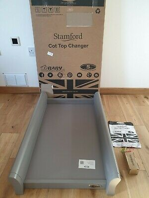 Obaby Stamford Cot Top Changer In Taupe Grey