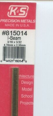 12 in BRASS I-BEAM 3/16x1/32in (4.76x0.79mm) K&S Engineering #815014 NEW