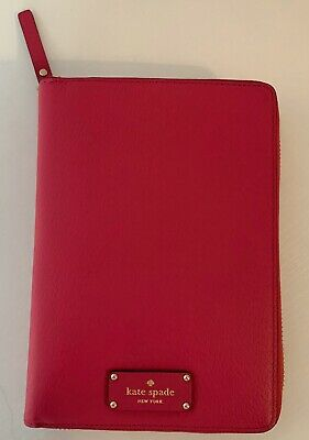 Kate Spade Wellesley Zip Around Planner Pink Leather