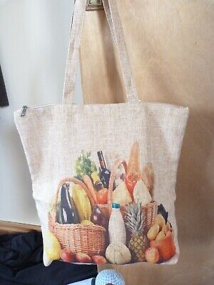 Shopping Bag Hard Wearing Bag for Life - Fruit and Veg Picture On Side