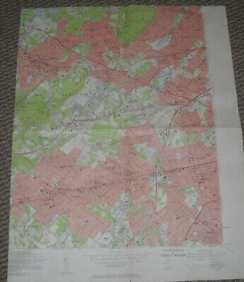 Roselle, New Jersey USGS Topographic Map 1955 7.5 Minute Series