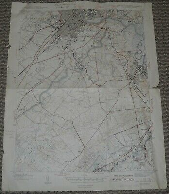 New Brunswick, New Jersey USGS Topographic Map 1942 7.5 Minute Series