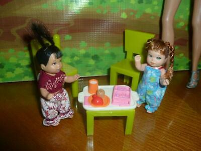 Barbie Baby  Size Diorama Dollhouse Nursery- Miniature Table Chairs & Food #6