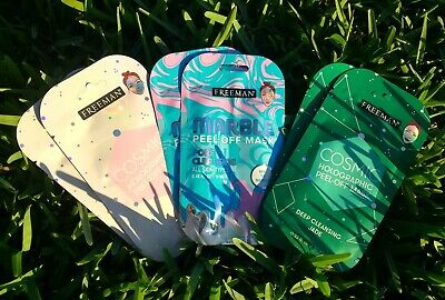 6 Pack Of Peel-Off Masks, Cosmic Holographic & Marble