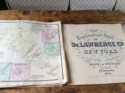 ROSSIE NY Authentic Map  Disbound From 1865 Topographical Atlas  S & D Beers