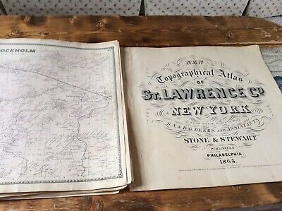 STOCKHOLM NY Authentic Map  Disbound From 1865 Topographical Atlas  S & D Beers