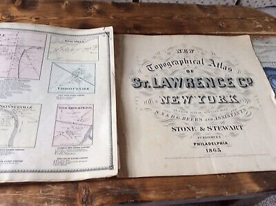 WEST STOCKHOLMAuthentic Map  Disbound From 1865 Topographical Atlas  S & D Beers