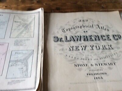BRASHER  HELENAuthentic Map  Disbound From 1865 Topographical Atlas  S & D Beers