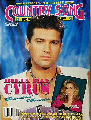 Country Song Roundup Vtg Music Magazine Sept 1992 Billy Ray Cyrus No Label EX