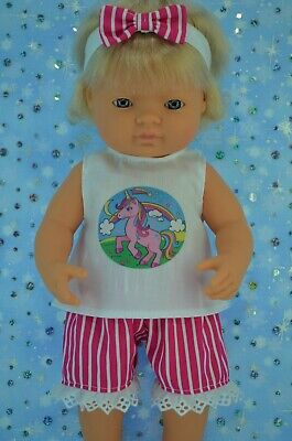 Play n Wear Dolls Clothes For 38cm Miniland Doll STRIPE PANTS~TOP~HEADBAND