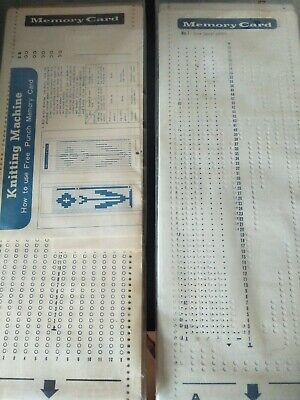 Knitting machine memory card punch cards set no1-20 plus blank punch cards