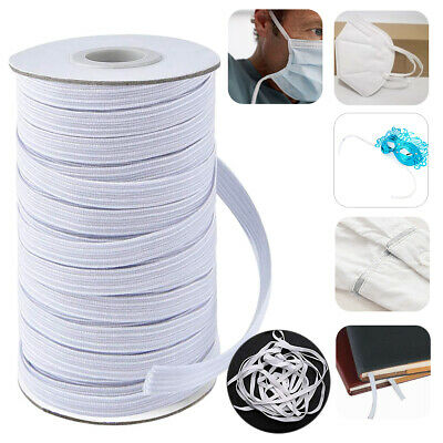 1Roll 150 Yards Elastic Rope Rubber Band DIY Tape Ear Hanging Face Making Sewing