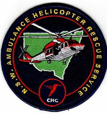 NSW Ambulance Helicopter Rescue Service Australia Embroidered Patch