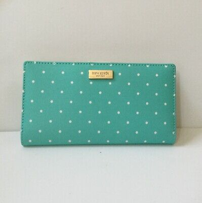 NWT Kate Spade Stacy Grand Street Grainy Vinly Wallet in Frshar/crm