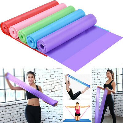 1.5m/2m Elastic Yoga Stretch Resistance Bands Exercise Fitness Band Theraband