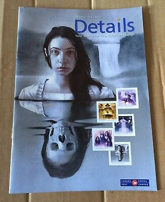 Canada Post DETAILS Stamps & Coins Sept 2016 Haunted Canada Bilingual Magazine