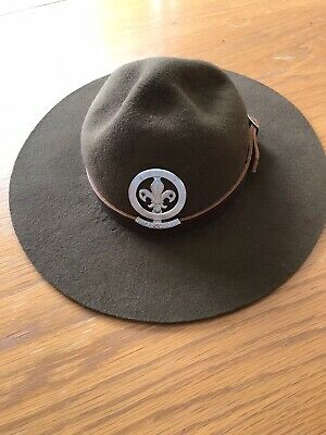 Felt Scout Hat With Metal Badge And Leather Band