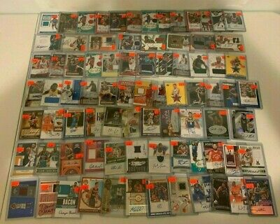 (82) NBA Basketball Game Used Jersey Relic Auto Lot