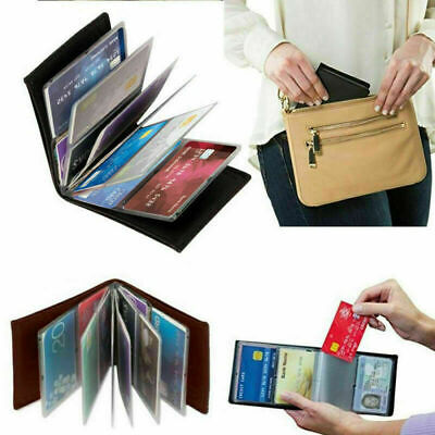 Amazing Slim RFID Wallets -- Black Leather--13*10cm C4B2 C9G4 O5V5