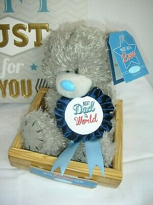 Me To You Best Dad in the World Tatty Teddy Bear/Gift Bag-Fathers Day,Birthday