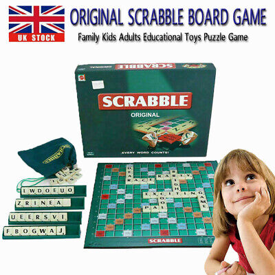 Original Scrabble Board Game Family Kids + Adults Educational Toys Puzzle Games