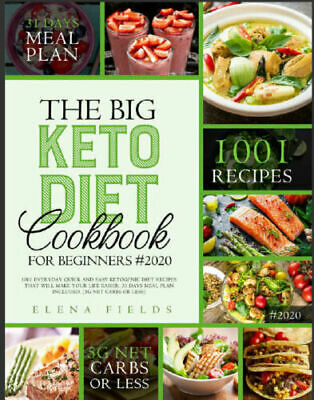 THE BIG KETO DIET COOKBOOK FOR BEGINNERS #2020 1001 PDF/Eb00k Fast Delivery