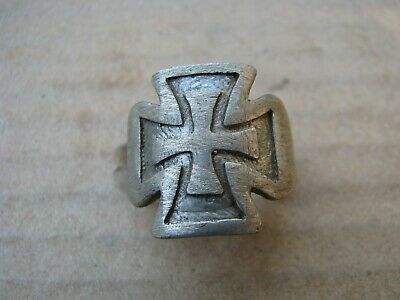 Byzantine Crusaders  Silver Ring - Cross