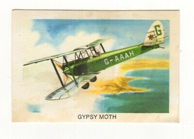 Tip Top Bread - Great Sunblest Air Race Cards #02. Gypsy Moth (different)