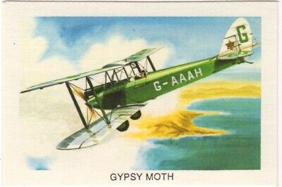 Tip Top Bread - Great Sunblest Air Race Cards #04. DH Giant Moth (different)
