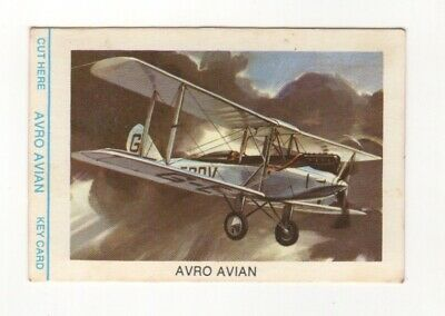 Tip Top Bread - Great Sunblest Air Race Cards #03. Avro Avian