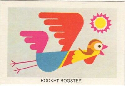 Tip Top Bread - Great Sunblest Air Race Cards #08. Rocket Rooster (different)
