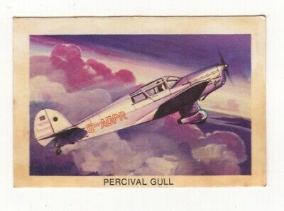 Tip Top Bread - Great Sunblest Air Race Cards #10. Percival Gull