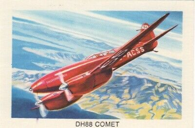Tip Top Bread - Great Sunblest Air Race Cards #07. DH88 Comet (different)