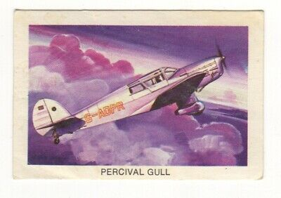 Tip Top Bread - Great Sunblest Air Race Cards #10. Percival Gull (different)