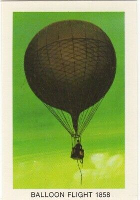 Tip Top Bread - Great Sunblest Air Race Cards #13 Balloon flight 1858 (diff)