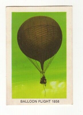 Tip Top Bread - Great Sunblest Air Race Cards #13 Balloon flight 1858