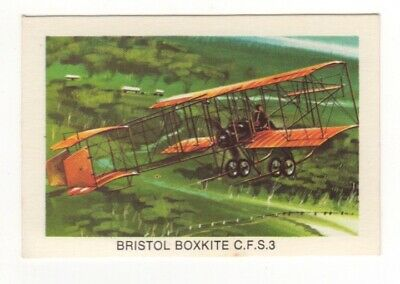 Tip Top Bread - Great Sunblest Air Race Cards #16. Bristol Boxkite (different)
