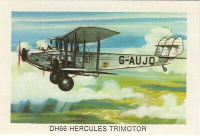 Tip Top Bread - Great Sunblest Air Race Cards #19. DH66 Hercules Trimotor (diff)