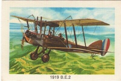 Tip Top Bread - Great Sunblest Air Race Cards #18. 1919 BE2
