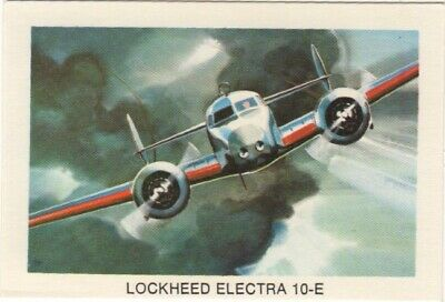 Tip Top Bread - Great Sunblest Air Race Cards #20. Lockheed Electra (different)
