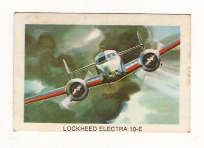 Tip Top Bread - Great Sunblest Air Race Cards #20. Lockheed Electra