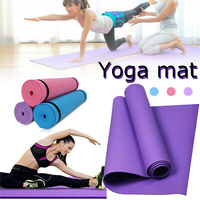 183*61cm Thick Yoga Mat Non Slip Exercise Pilates Gym Workout Fitness Sports Pad