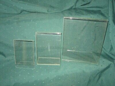 Acrylic Table Top Photo/Artwork/Notice-Sign Frames~3 Available in 2 Sizes~VG