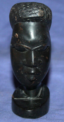 Vintage African hand carved wood man figurine