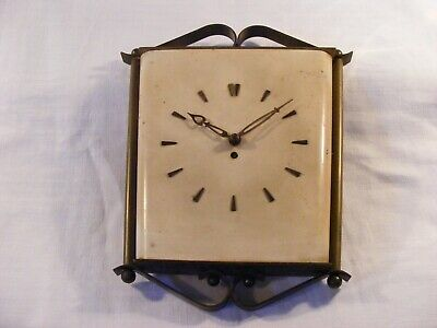 super vintage SMITHS key wind wall clock-deco style-working order/restore etc