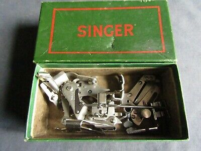 Vintage Singer Sewing-Singer Box Of Attachments/Feet