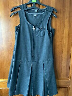 Two Girls grey school pinafore dress size 11 years