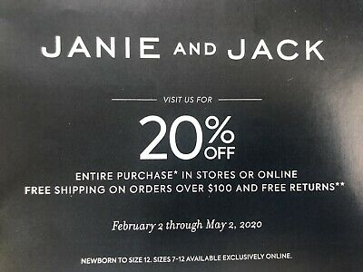 Janie And Jack 20% Off Entire Order, In Store Or Online, May2, 2020