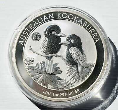 2013 Perth Mint 1oz Kookaburra Silver Coin with F15 Privy