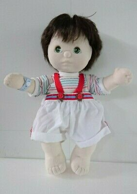 MATTEL My Child Doll, boy with black hair, in good condition for age